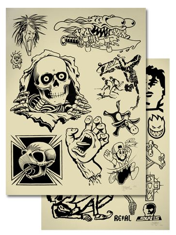 New prints from Mike Giant serve up old-school skate graphics as tattoo
