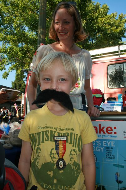 August at the Make Zine Booth with Felt Moustache