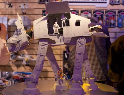 The Hasbro AT-AT Walker toy holds 20 action figures and is only $100. Only.