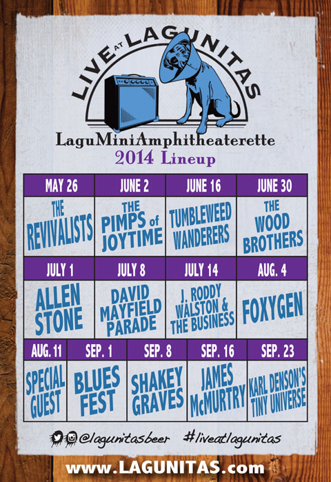 Live at Lagunitas 2014 lineup